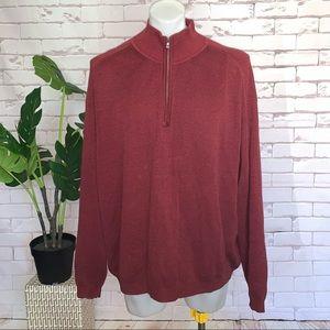 Tommy Bahamas 1/4 Zip Sweatshirt Sweater Heather